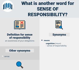 sense of responsibility, synonym sense of responsibility, another word for sense of responsibility, words like sense of responsibility, thesaurus sense of responsibility