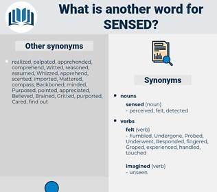 sensed, synonym sensed, another word for sensed, words like sensed, thesaurus sensed