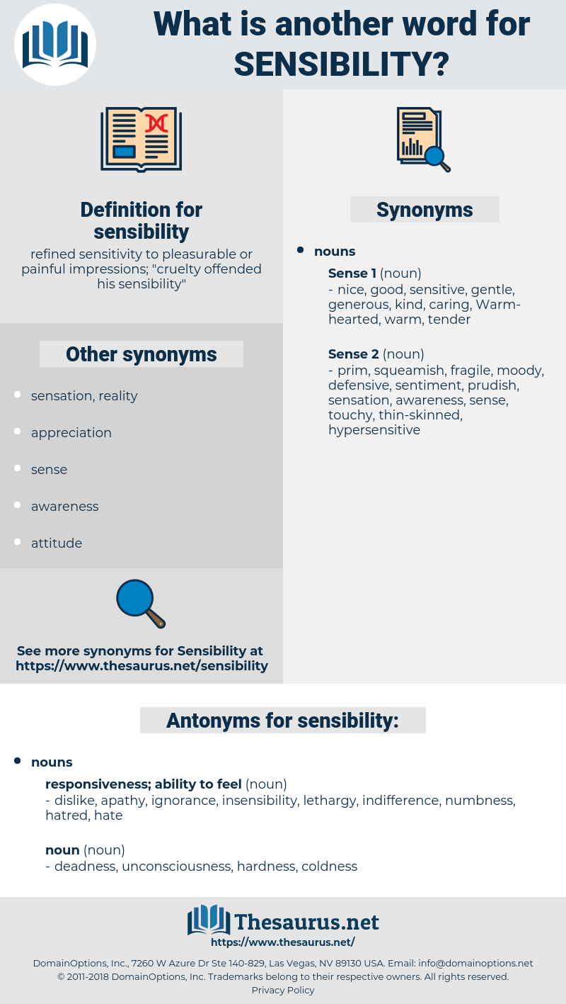 sensibility, synonym sensibility, another word for sensibility, words like sensibility, thesaurus sensibility