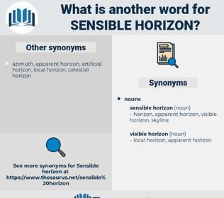 sensible horizon, synonym sensible horizon, another word for sensible horizon, words like sensible horizon, thesaurus sensible horizon