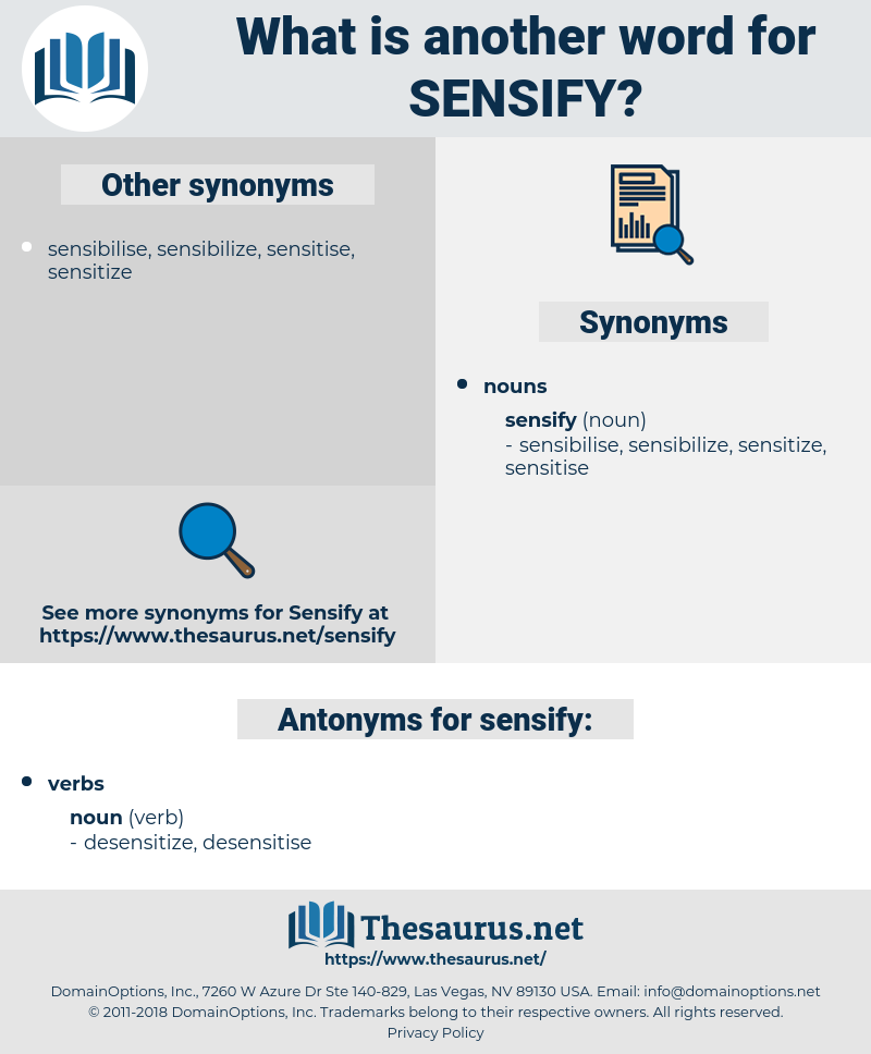 sensify, synonym sensify, another word for sensify, words like sensify, thesaurus sensify