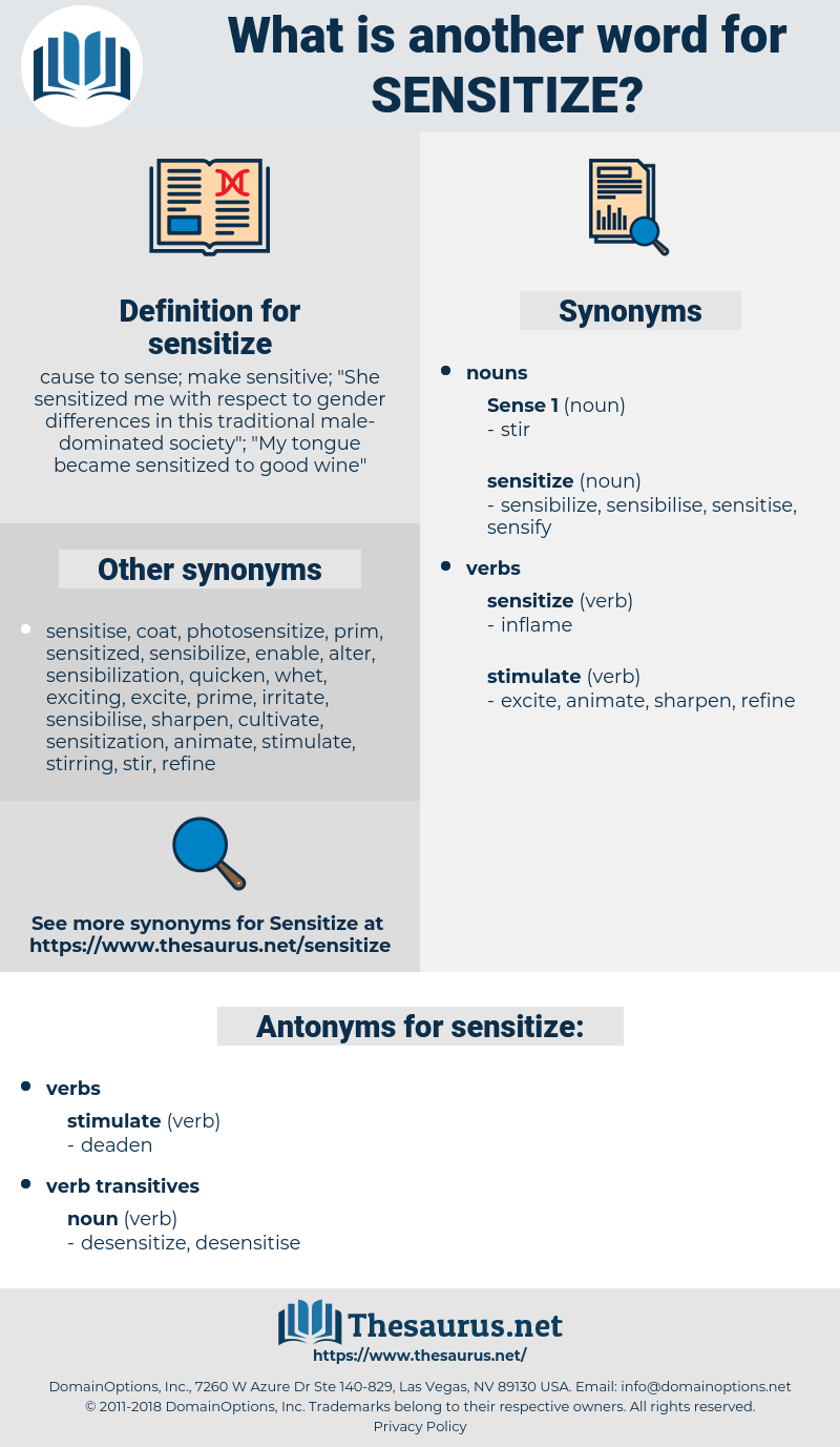 sensitize, synonym sensitize, another word for sensitize, words like sensitize, thesaurus sensitize