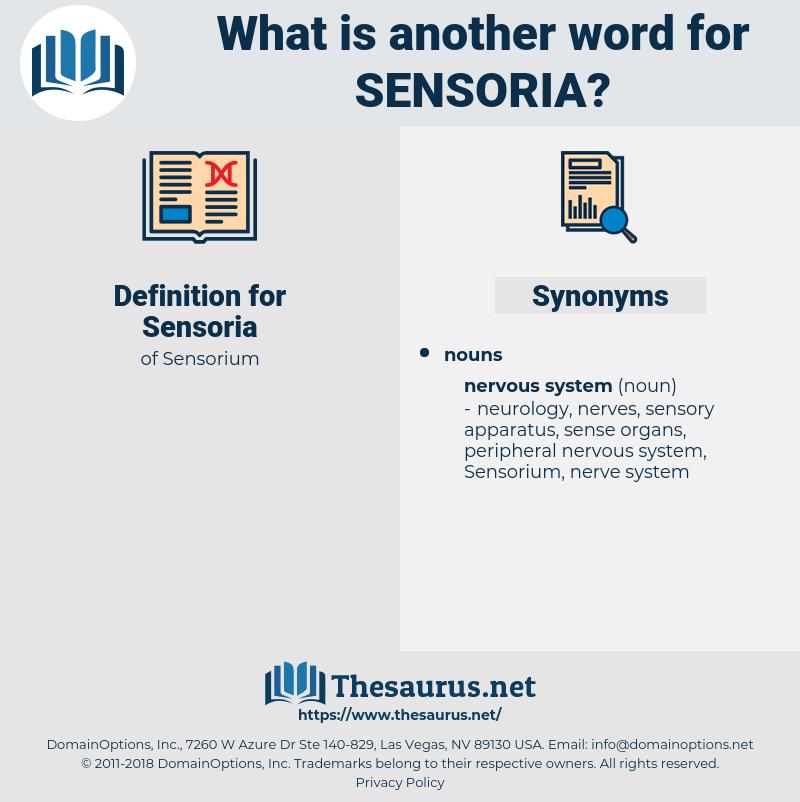Sensoria, synonym Sensoria, another word for Sensoria, words like Sensoria, thesaurus Sensoria