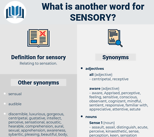sensory, synonym sensory, another word for sensory, words like sensory, thesaurus sensory
