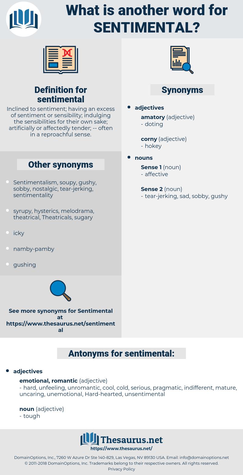 sentimental, synonym sentimental, another word for sentimental, words like sentimental, thesaurus sentimental
