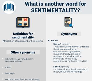 sentimentality, synonym sentimentality, another word for sentimentality, words like sentimentality, thesaurus sentimentality