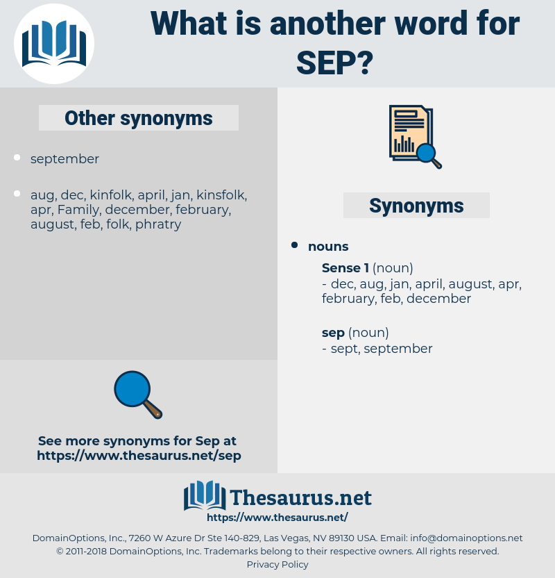 sep, synonym sep, another word for sep, words like sep, thesaurus sep
