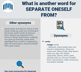 separate oneself from, synonym separate oneself from, another word for separate oneself from, words like separate oneself from, thesaurus separate oneself from