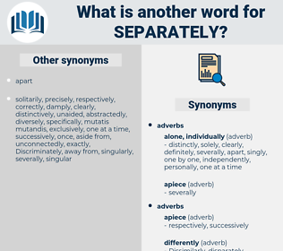 separately, synonym separately, another word for separately, words like separately, thesaurus separately