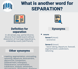 separation, synonym separation, another word for separation, words like separation, thesaurus separation