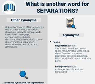 Separations, synonym Separations, another word for Separations, words like Separations, thesaurus Separations