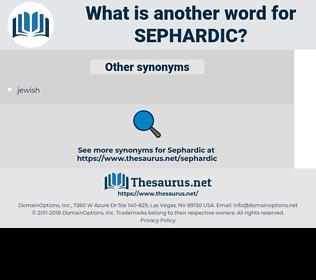 Sephardic, synonym Sephardic, another word for Sephardic, words like Sephardic, thesaurus Sephardic