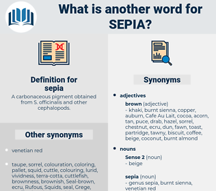 sepia, synonym sepia, another word for sepia, words like sepia, thesaurus sepia