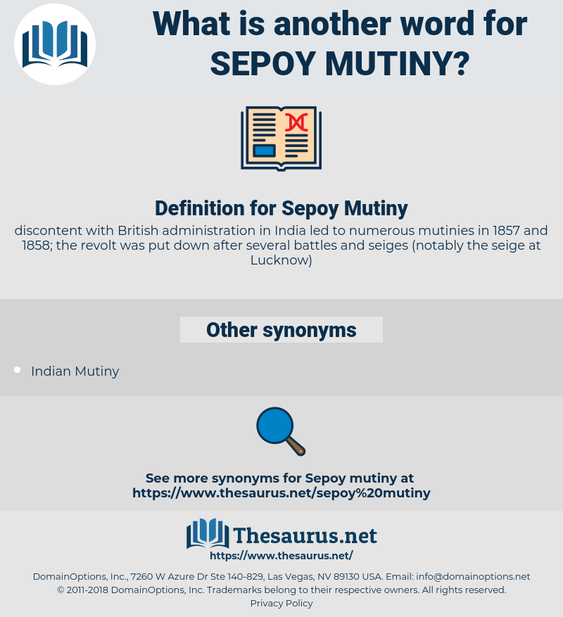 Sepoy Mutiny, synonym Sepoy Mutiny, another word for Sepoy Mutiny, words like Sepoy Mutiny, thesaurus Sepoy Mutiny