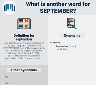 september, synonym september, another word for september, words like september, thesaurus september