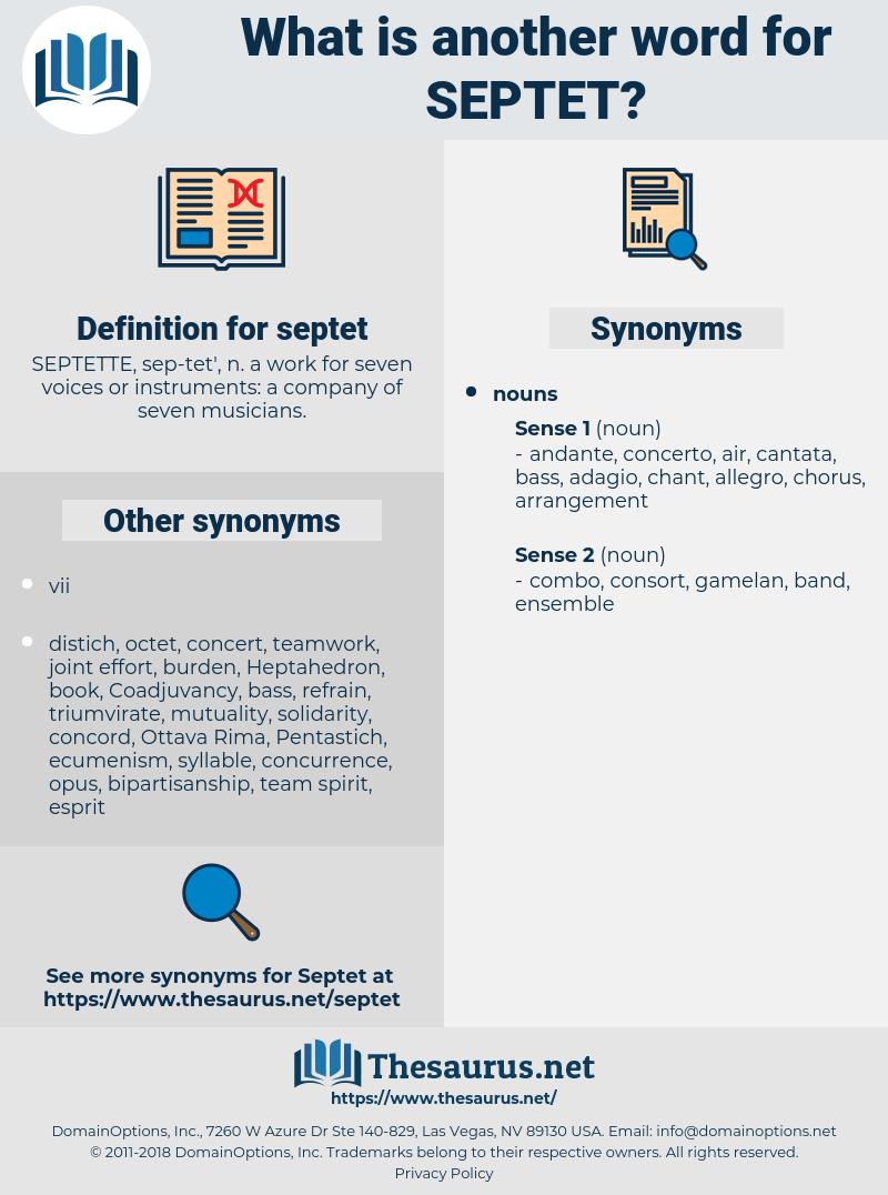 septet, synonym septet, another word for septet, words like septet, thesaurus septet