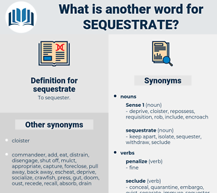 sequestrate, synonym sequestrate, another word for sequestrate, words like sequestrate, thesaurus sequestrate