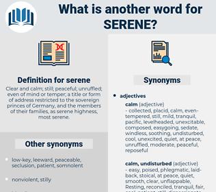 serene, synonym serene, another word for serene, words like serene, thesaurus serene