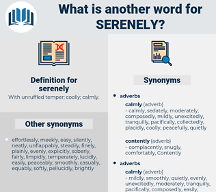 serenely, synonym serenely, another word for serenely, words like serenely, thesaurus serenely