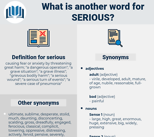 serious, synonym serious, another word for serious, words like serious, thesaurus serious
