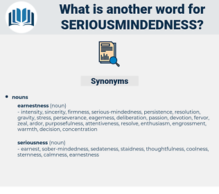 seriousmindedness, synonym seriousmindedness, another word for seriousmindedness, words like seriousmindedness, thesaurus seriousmindedness