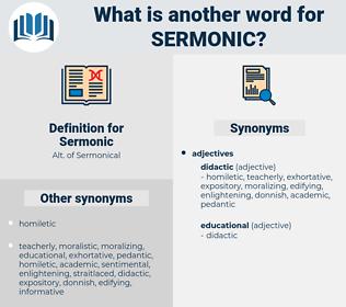 Sermonic, synonym Sermonic, another word for Sermonic, words like Sermonic, thesaurus Sermonic