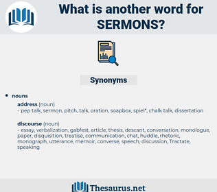 Sermons, synonym Sermons, another word for Sermons, words like Sermons, thesaurus Sermons