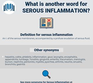 serous inflammation, synonym serous inflammation, another word for serous inflammation, words like serous inflammation, thesaurus serous inflammation