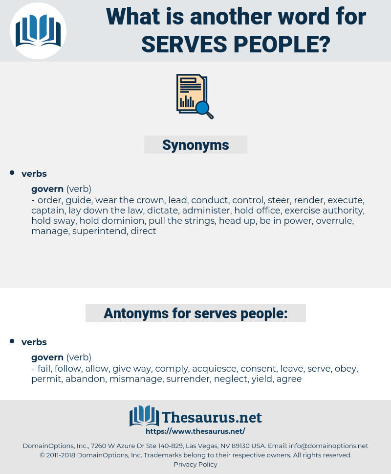 serves people, synonym serves people, another word for serves people, words like serves people, thesaurus serves people
