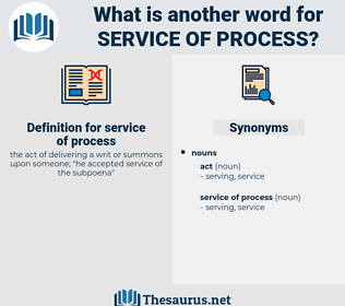 service of process, synonym service of process, another word for service of process, words like service of process, thesaurus service of process