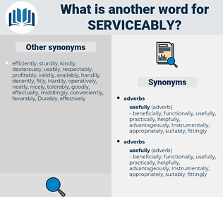 serviceably, synonym serviceably, another word for serviceably, words like serviceably, thesaurus serviceably