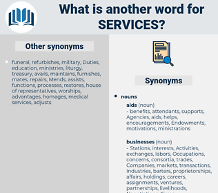 services, synonym services, another word for services, words like services, thesaurus services
