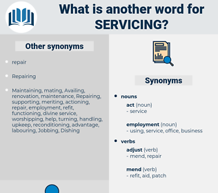 servicing, synonym servicing, another word for servicing, words like servicing, thesaurus servicing