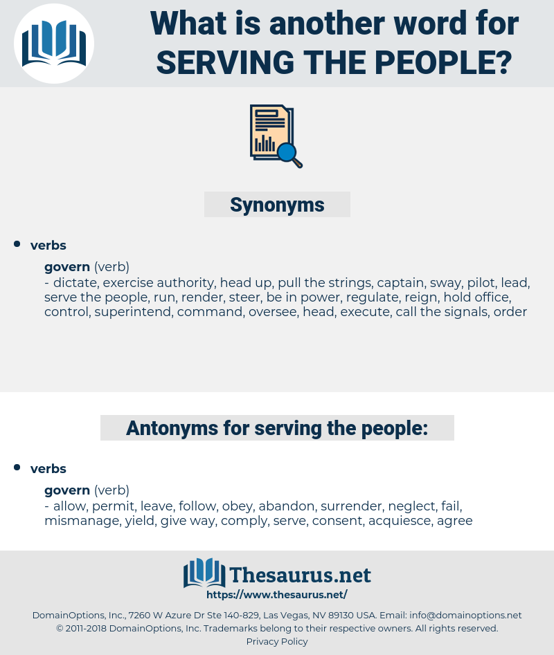 serving the people, synonym serving the people, another word for serving the people, words like serving the people, thesaurus serving the people
