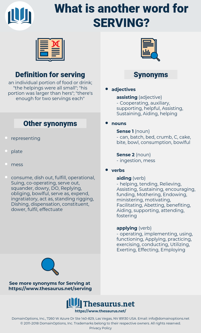 synonyms for serving - thesaurus
