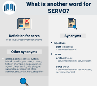 servo, synonym servo, another word for servo, words like servo, thesaurus servo