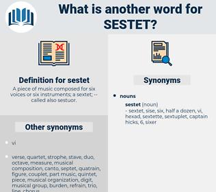 sestet, synonym sestet, another word for sestet, words like sestet, thesaurus sestet