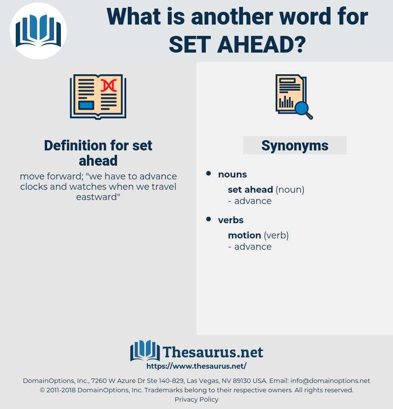 set ahead, synonym set ahead, another word for set ahead, words like set ahead, thesaurus set ahead