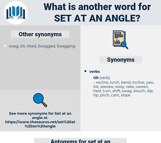 set at an angle, synonym set at an angle, another word for set at an angle, words like set at an angle, thesaurus set at an angle