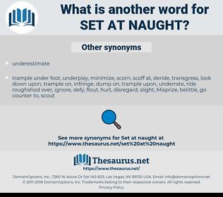 set at naught, synonym set at naught, another word for set at naught, words like set at naught, thesaurus set at naught