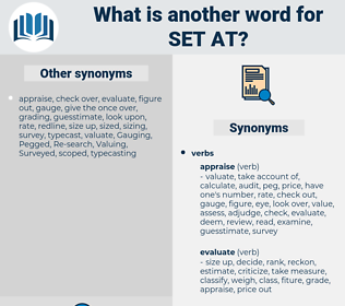 set at, synonym set at, another word for set at, words like set at, thesaurus set at