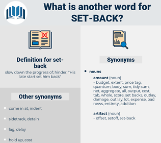 set back, synonym set back, another word for set back, words like set back, thesaurus set back