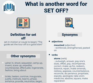 set-off, synonym set-off, another word for set-off, words like set-off, thesaurus set-off