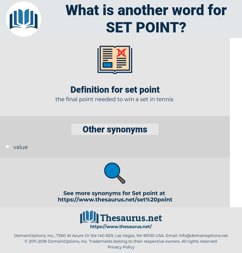 set point, synonym set point, another word for set point, words like set point, thesaurus set point