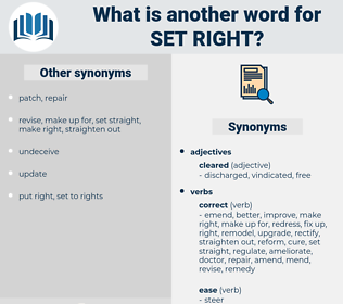 set right, synonym set right, another word for set right, words like set right, thesaurus set right