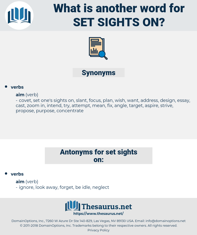 set sights on, synonym set sights on, another word for set sights on, words like set sights on, thesaurus set sights on