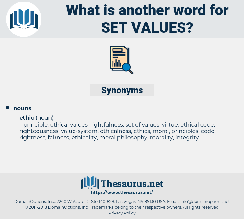 set values, synonym set values, another word for set values, words like set values, thesaurus set values
