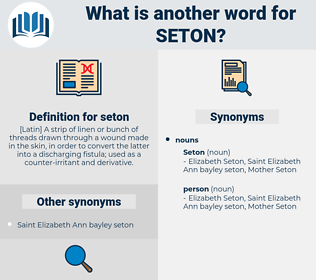 seton, synonym seton, another word for seton, words like seton, thesaurus seton