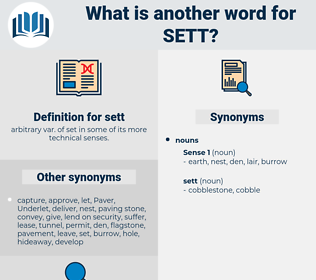 sett, synonym sett, another word for sett, words like sett, thesaurus sett