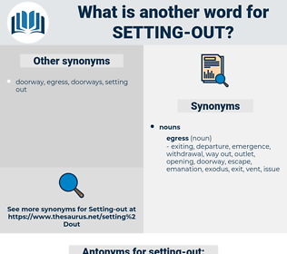 setting out, synonym setting out, another word for setting out, words like setting out, thesaurus setting out